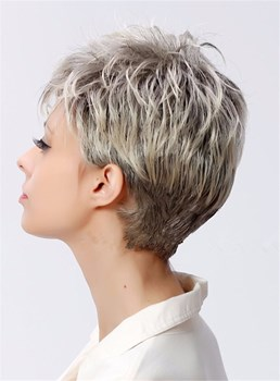 Boycut Hairstyle Short Straight Synthetic Capless Women Wigs