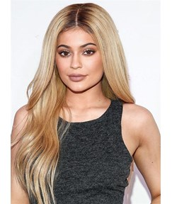 Kylie Jenner Long Straight Lace Front Synthetic Hair Wig 20 Inches