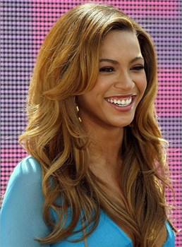 Beyonce Long Wavy Full Lace Human Hair Wig 22 Inches