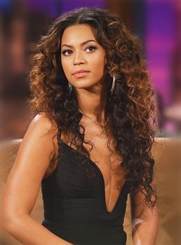 Beyonce Long Curly Lace Front Synthetic Hair Wig 22 Inches