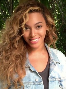 Beyonce Long Curly Lace Front Human Hair Wig 22 Inches