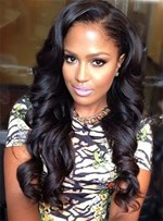 Long Big Wave Lace Front Cap Human Hair Wig 22 Inches