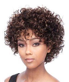Hot Sale Short Kinky Curly Capless Human Hair Wig 10 Inches