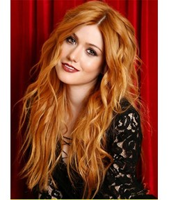 Long Layered Loose Wavy Middle Part Hairstyle Lace Front Human Hair Wig 20 Inches