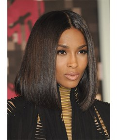 Ciara Meidum Straight Lace Front Cap Human Hair Wig 12 Inches