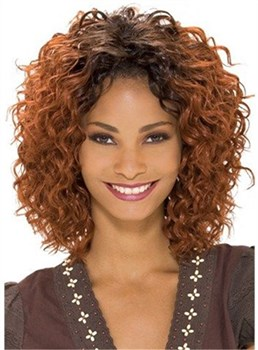 Medium Curly Lace Front Synthetic Hair Wig 12 Inches