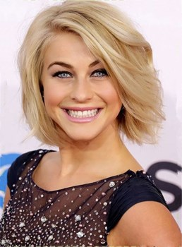 Short Natural Straight Layered Side Swept Fringes Lace Front Human Hair Wigs 10 Inches