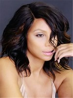Tamar Braxton Medium Wavy Lace Front Cap Human Hair Wig 12 Inches