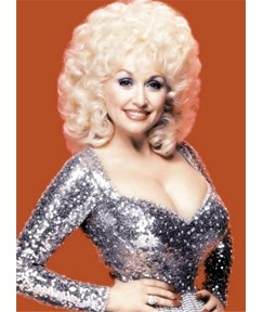 Dolly Parton Short Loose Curly Synthetic Capless Hair Wigs 10 Inches