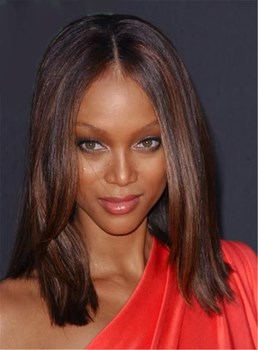 Medium Straight Lace Front Cap Synthetic Hair Wig 12 Inches