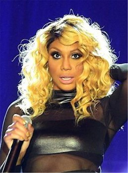Tamar Braxton Medium Curly Capless Synthetic Hair Wig 16 Inches