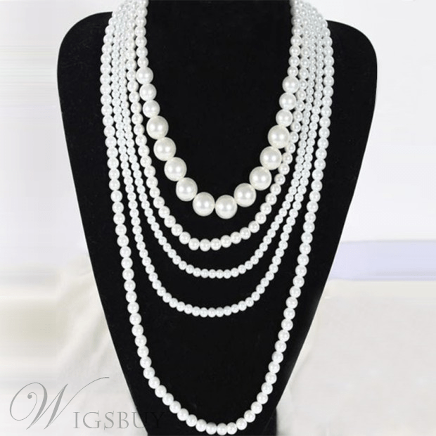 Multi-layer Beads Decorated Women's Necklace