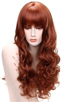 Aisi® Long Wavy Capless Synthetic Hair Wig 24 Inches