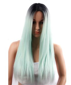 Aisi® Colored Long Straight Capless Synthetic Hair Wig 26 Inches