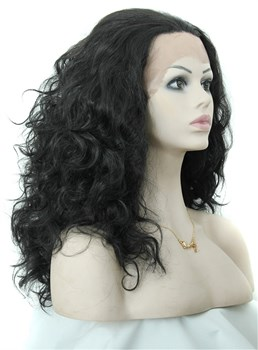 Aisi® Long Curly Lace Front Cap Synthetic Hair Wig 20 Inches