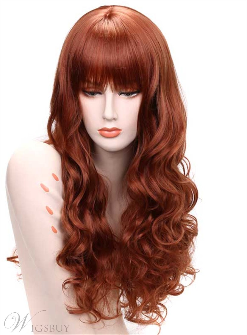 haircuts in dc aisi 174 wavy capless synthetic hair wig 24 inches 4745