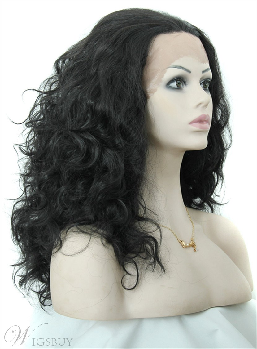 Aisi 174 Long Curly Lace Front Cap Synthetic Hair Wig 20