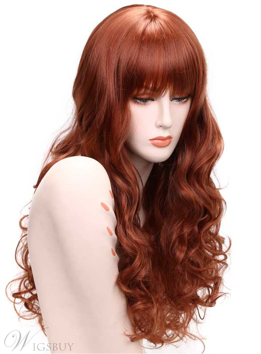 Aisi 174 Long Wavy Capless Synthetic Hair Wig 24 Inches