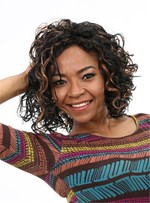 Aisi® Mixed Color Short Kinky Curly Capless Synthetic Hair Wig 10 Inches