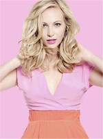 Candice Accola Medium Layered Loose Wave Human Hairstyle Lace Front Wigs 14 Inches