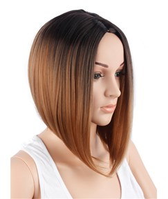 Aisi® Bob Medium Straight Synthetic Hair Capless Wig 12 Inches