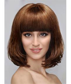 Sweety Medium Wavy Capless Synthetic Hair Wig 12 Inches