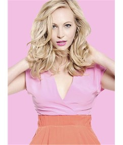 Candice Accola Layered Loose Wave Human Hair Lace Front Wigs