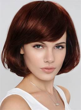 Bob Hairstyle Short Wavy Capless Synthetic Hair Wig 10 Inches