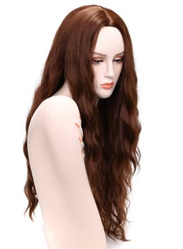 Aisi® Long Wave Middle Parting Synthetic Capless Women Wigs 30 Inches