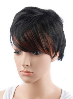 Aisi® Fashionable Curly Capless Synthetic Hair Wig 8 Inches