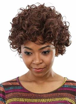 Aisi® Short Curly Capless Synthetic Hair Wig 10 Inches