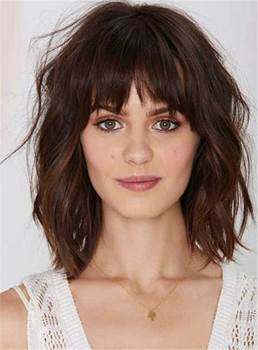 Synthetic Capless Full Bang Women Wig 10 Inches