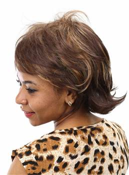 Aisi® Short Wavy Capless Synthetic Hair Wig 10 Inches