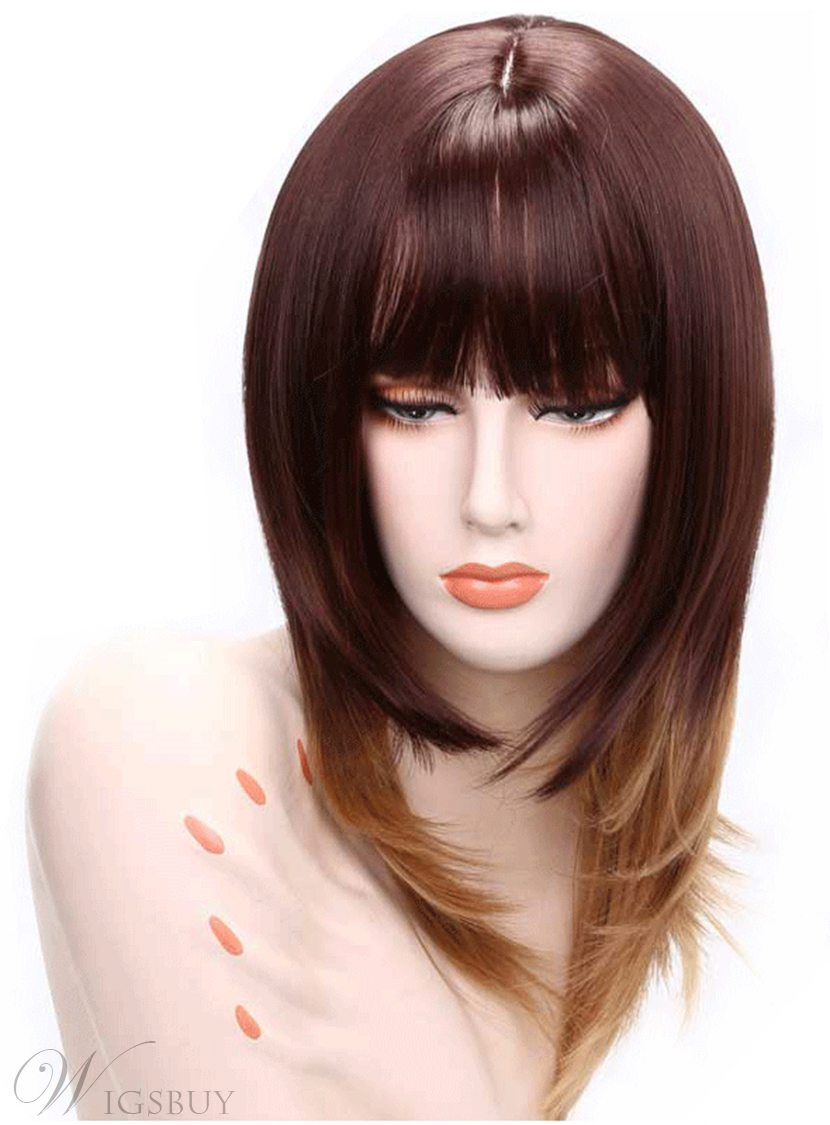 Aisi? Synthetic Capless Long Straight Full Bang Women Wigs 20 Inches 12681941