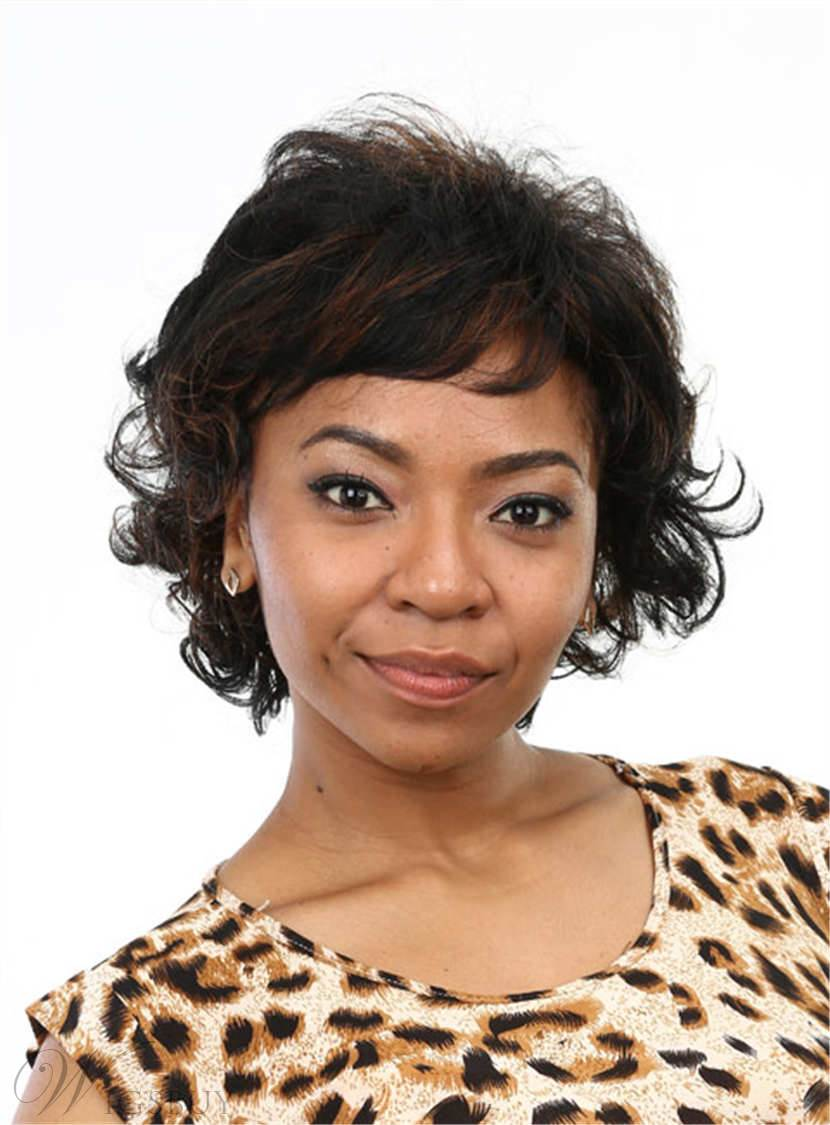 Aisi 174 Cute Short Curly Capless Synthetic Hair Wig 10