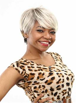 Aisi® Short Layered Straight Capless Synthetic Hair Wig 6 Inches
