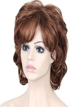 Aisi® Short Curly Bob Hairstyle Layered Synthetic Hair Capless Wig 8 Inches