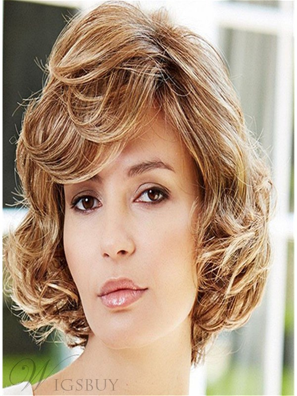 layered medium hair styles curly stacked bob wig curly plunging bob 1041