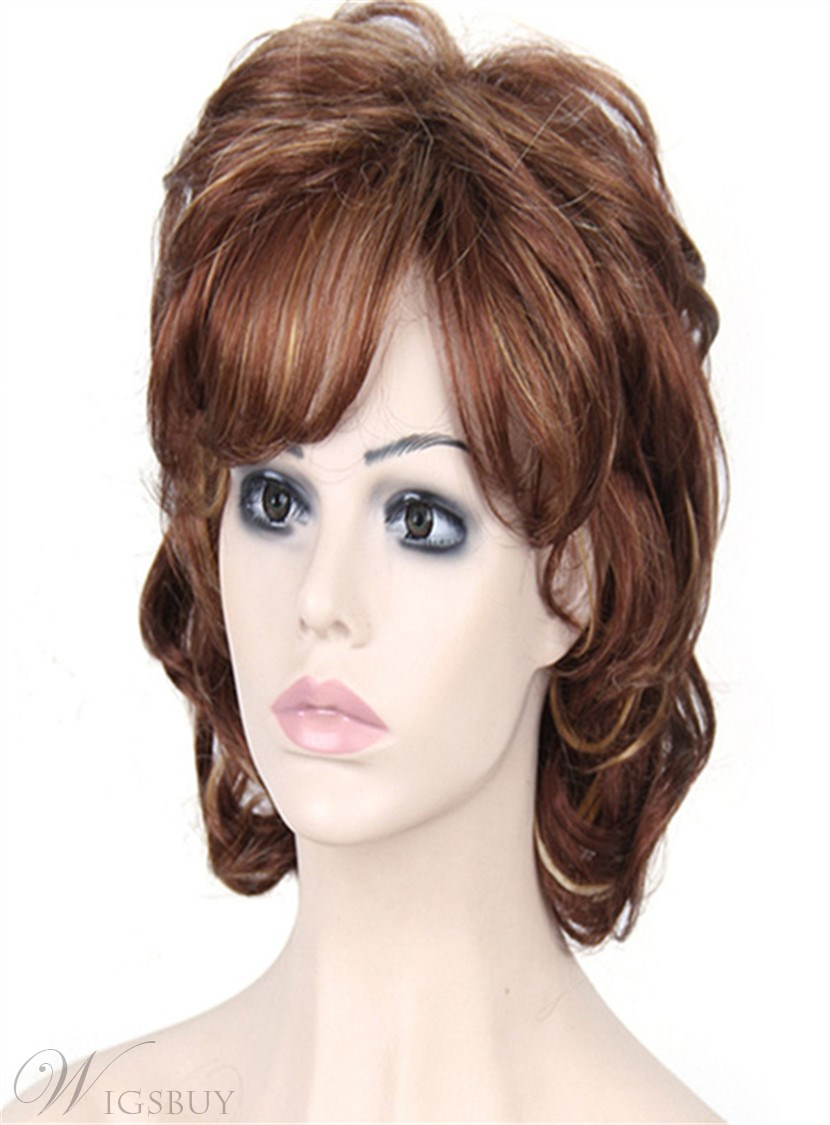 Aisi 174 Short Curly Bob Hairstyle Layered Synthetic Hair