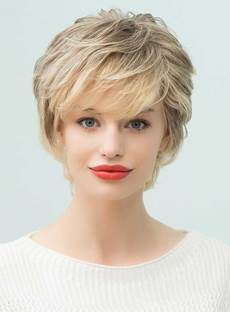 Mishair® Short Layered Curly Human Hair With Bangs Capless Wigs 10 Inches