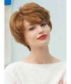 Mishair® Graceful Short Feathered Pixie Haircut with Wispy Bangs Human Hair Blend Capless Wigs 10 Inches