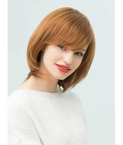 Mishair® Attractive Bob Hairstyle Side Bangs Nature Straight Human Hair Blend Capless Wigs 12 Inches