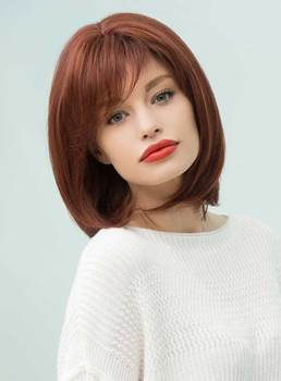 Mishair® Elegant Medium Straight Human Hair Blend Capless Bob Wigs 12 Inches