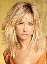 Layered Messy Straight Mid-Length Synthetic Hair Capless Wigs 16 Inches