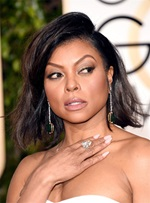 Taraji P.Henson Bob Hairstyle Messy Medium Wave Cut Human Hair Lace Front Wigs 12 Inches