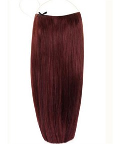 Plum Smooth Straight Human Hair Flip In Hair Extension