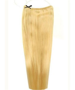 Light Blonde Straight Human Hair Flip In Hair Extension