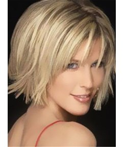 Hot Sale Short Straight Bob Hairstyle Capless Synthetic Wig 12 Inches