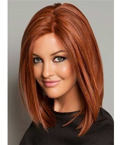 Bob Medium Straight Synthetic Hair Lace Front Wigs 14 Inches