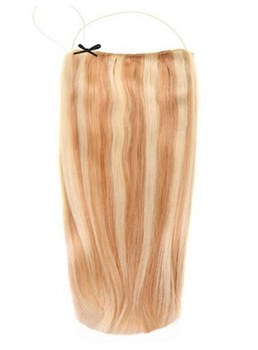 Mixed Color Straight Human Hair Flip In Hair Extensions 16 Inches-26 Inches